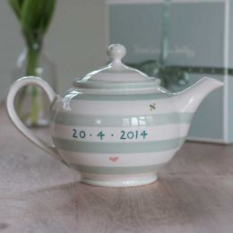 Personalised Honey Bees Round Teapot
