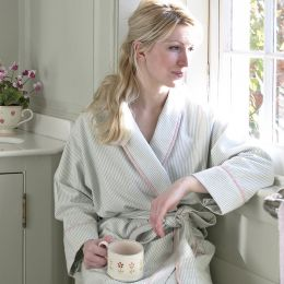 Duck egg blue bath robe