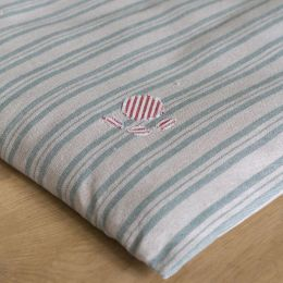 Dog Bed Mattress Cover Only - Sail Blue Stripe