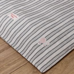 Dog Bed Mattress Cover Only - Charcoal Stripe