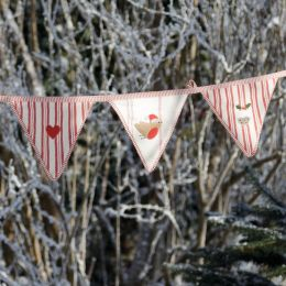 Robin & Pudding Christmas Bunting