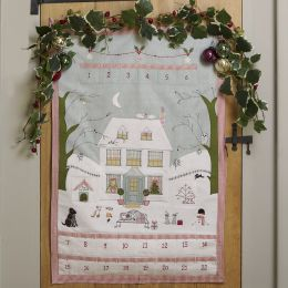 Hand-embroidered Christmas House Advent Calendar - 2019 Edition