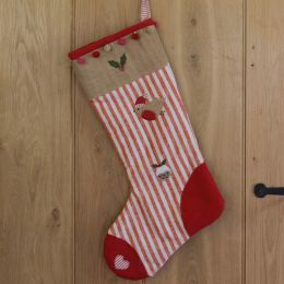 Christmas Stocking - Robin & Pudding