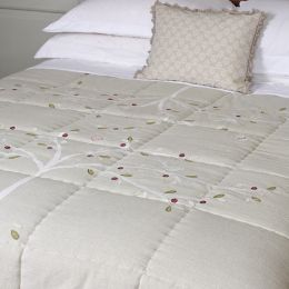 Grey Olive Tree Quilt