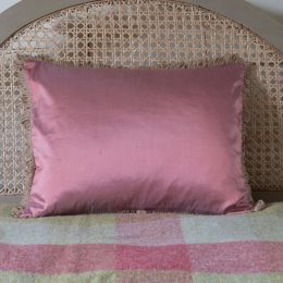 Silk Cushion - Deep Rose