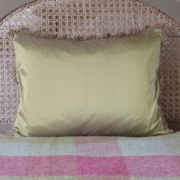 Silk Cushion - Green Gold