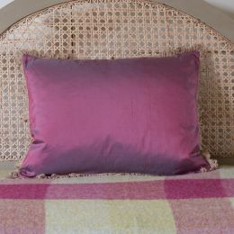 Silk Cushion - Burgundy