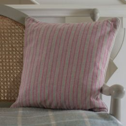 Ticking Stripe Cushion - Violet