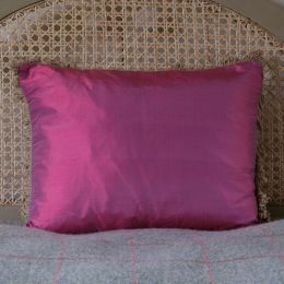 Pink silk cushion