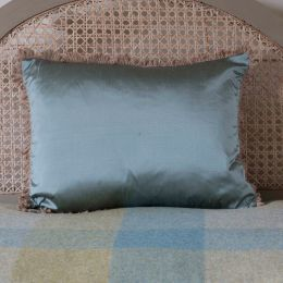 Silk Cushion - Sea Blue