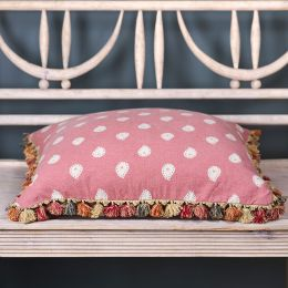 Rose Mika Large Seat Cushion with tassels