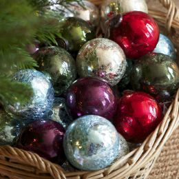 Large Crackle Glaze Glass Baubles