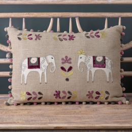 Embroidered Charcoal Indian Wedding Cushion