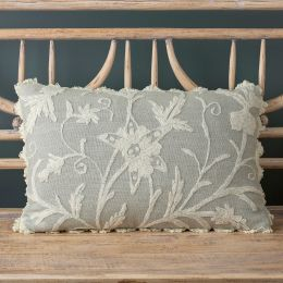 Duckegg Crewel Linen Cushion