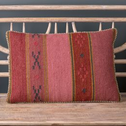 Damson Stripe Kilim Cushion 55 x 40cm