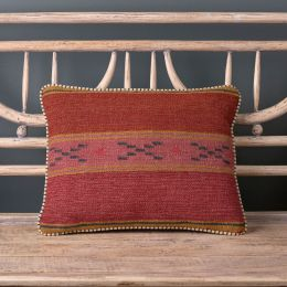 Damson Stripe Kilim Cushion Small