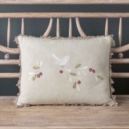 Bird Cushion - Dove in Olive Tree