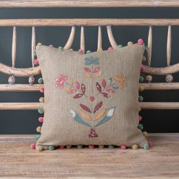 Indian Daisy Linen Cushion