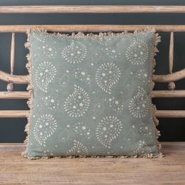 Blue printed cushion