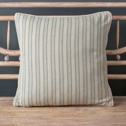 Ticking Stripe Cushion - Sail Blue