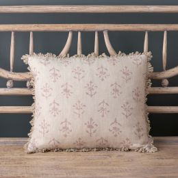 Violet Moonflower Linen Cushion