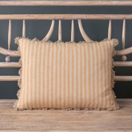 Saffron Natural Stripe Cushion