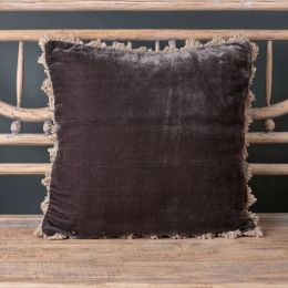 Graphite Velvet Cushion