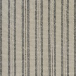 Charcoal Medium Ticking Stripe Cotton – 231