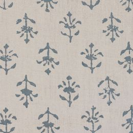 Marine Blue Moonflower Linen – 339