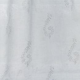 White Large Shalini Embroidered Linen Voile – 421
