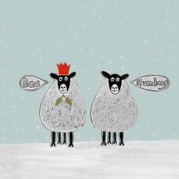 Christmas Card - Baa Humbug (Small, pack of 6)