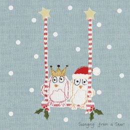 Christmas Card - Swinging From A Star (Small, pack of 6)