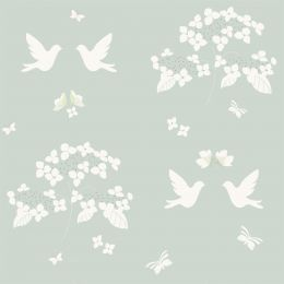 Gift Wrap - White Doves & Hydrangeas