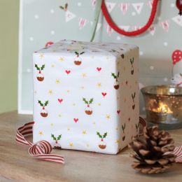 Pudding & Holly Tissue Paper (3 sheets)