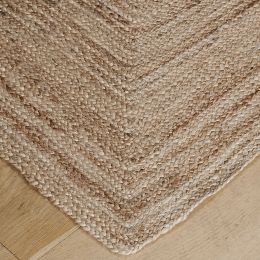 Mitred Effect Hemp Rug