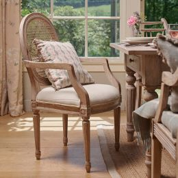 Upholstered Farmhouse Carver