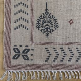 Akansha Blockprinted Jute Rug