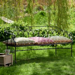 Large Wrought Iron Garden Bench