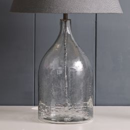 Hammered Glass Jar Lamp Base