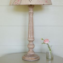 Weathered Reeded Lamp Base