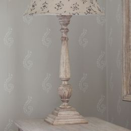 Tall Carved Weathered Lamp Base