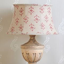 "Indian Red Moonflower 16"" Framed Lampshade"