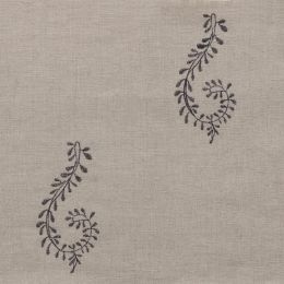 Charcoal Shalini Embroidered Linen – 140/C