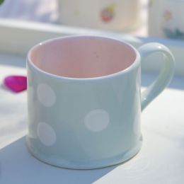 Blue White Spot Small Mug