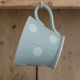 Blue / White Spot Conical Mug