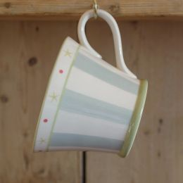 Blue Stripe Conical Mug