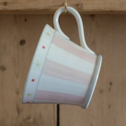 Pink Stripe Conical Mug