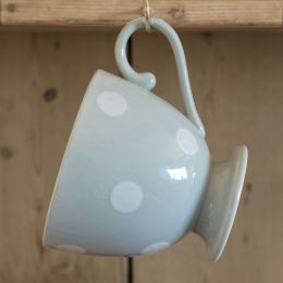 Blue / White Spot Large Mug