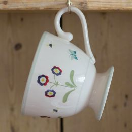 Dark Red Auricula Large Mug