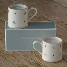Gift Set - Espresso Mugs Scented Bees